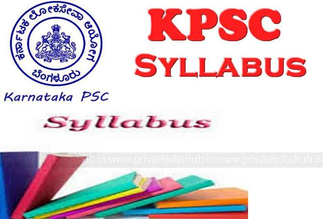 KPSC Syllabus