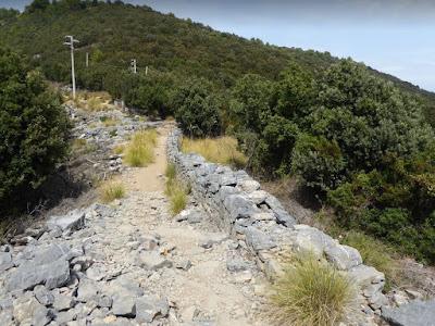 sentiero sull'isola Palmaria