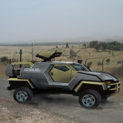 Armed Robotic ground vehicles patrolling Israeli borders
