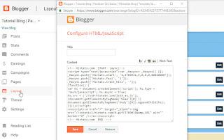 Cara Memasang Script/Kode Histats di Blog