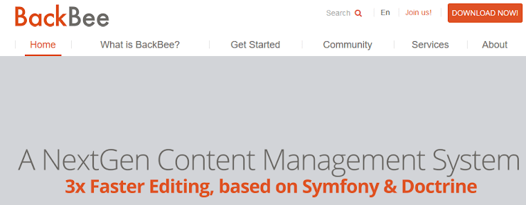 BackBee content management system.