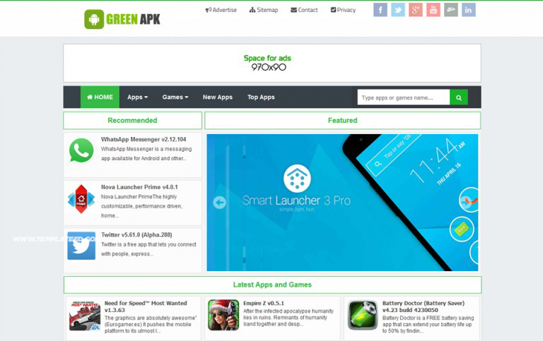 Android App Showcase Blogger Templates