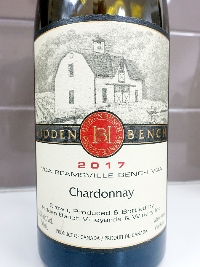 Hidden Bench Estate Chardonnay 2017 (91 pts)