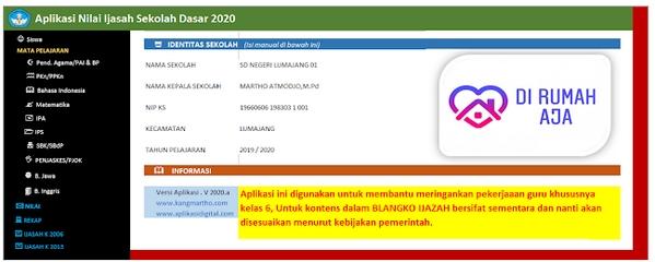 Aplikasi SKHU SD 2020