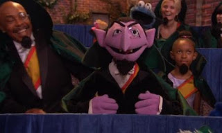 the count comes down from the sky and counts all of his friends. Sesame Street Count On Elmo