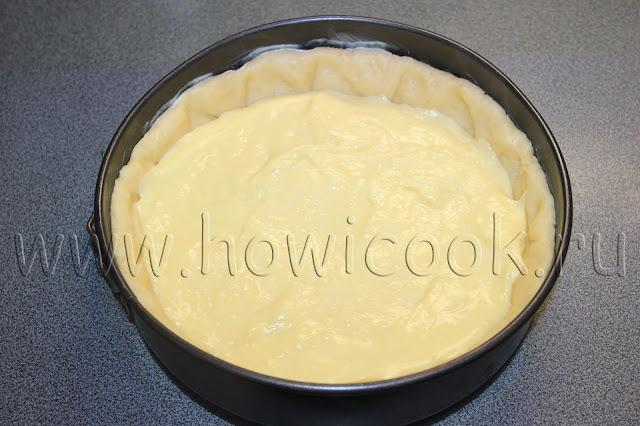 рецепт сливового пирога с ванильной заливкой с пошаговыми фото