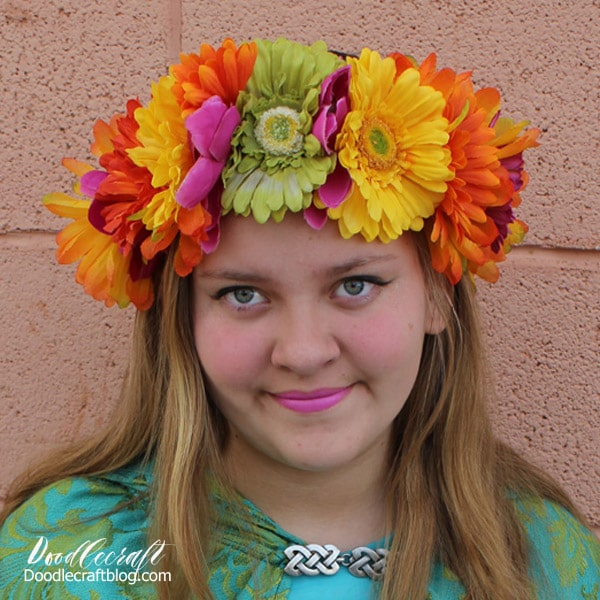 How to make a flower wreath crown diy