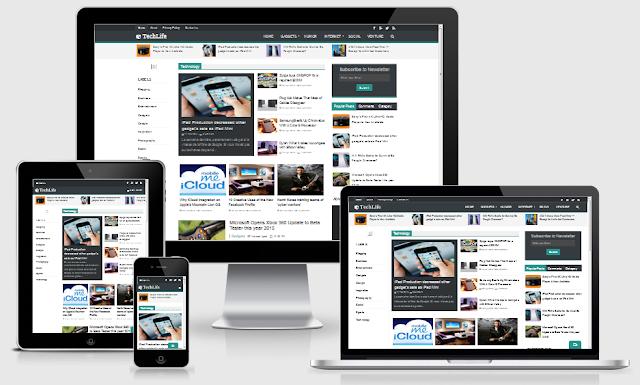 Download Template TechLife Blogger Full Responsive