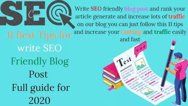 11 Best Tips for write SEO Friendly Blog Post | Full guide for 2020