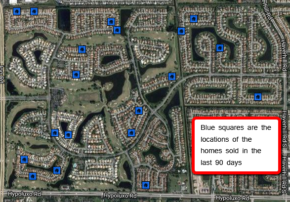 Map of Winston Trails homes sold in last 90 days