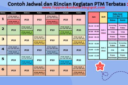 Contoh Jadwal dan Pedoman Pembelajaran Tatap Muka Terbatas 2 Kali Seminggu Untuk SD