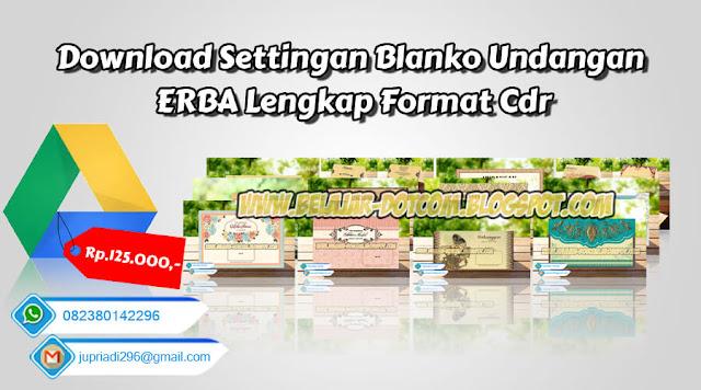 Download Settingan Blanko Undangan ERBA Lengkap Format Cdr, jual beli katalog erba