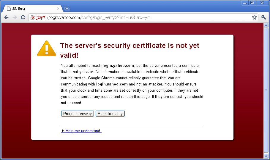 Its All About Computer Technology Server Security Certificate Not