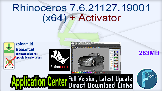 Rhinoceros 7.6.21127.19001 (x64) + Activator_ ZcTeam.id