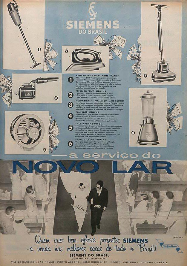 Propaganda antiga da Siemens veiculada em 1952 com sua linha de eletrodomésticos
