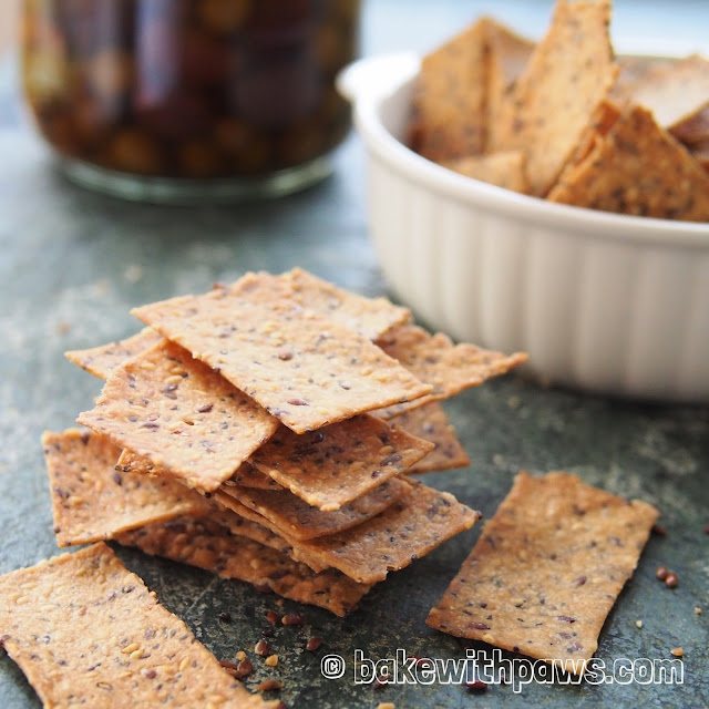 Multi Seeds Sourdough Crackers