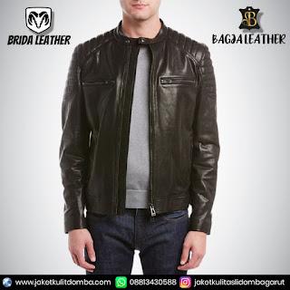 jaket kulit asli pria import