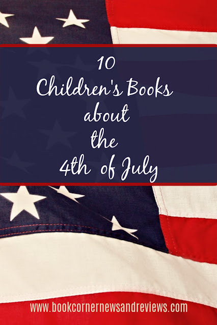 Pinnable image for a list of 4th of July themed children's books