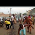 Offa people troop out to sweep away Saraki's footsteps immediately after leaving offa. Photo