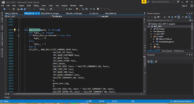 تصميم برنامج محاسبة جزء3-تطوير اكواد  عند الحفظ--2
