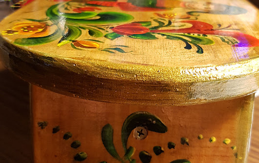 Norwegian Rosemaling Stool