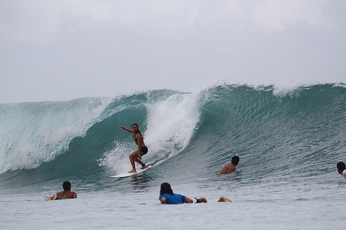 Surfing at Sipora Island