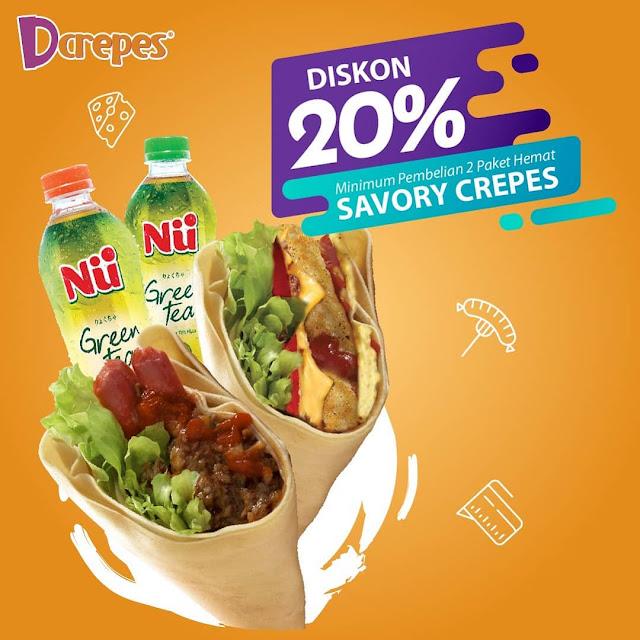 #D'CREPES - #Promo Diskon 20% Min Beli 2 Paket Hemat SAVORY CREPES (s.d 22 November 2020)