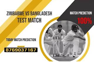 Zimbabwe vs Bangladesh Only Test Match 100% Sure Match Prediction
