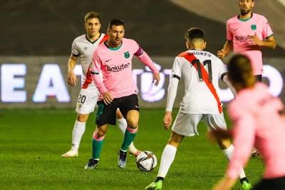 ملخص واهداف مباراة برشلونة ورايو فاليكانو (2-1) كاس ملك اسبانيا