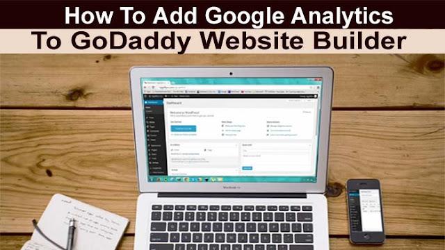 godaddy website builder google analytics