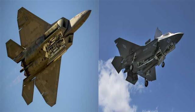 adalah pesawat tempur siluman generasi kelima terbaru dan tercanggih Angkatan Udara AS  16 PERBEDAAN F-22 RAPTOR DENGAN F-35 LIGHTNING II