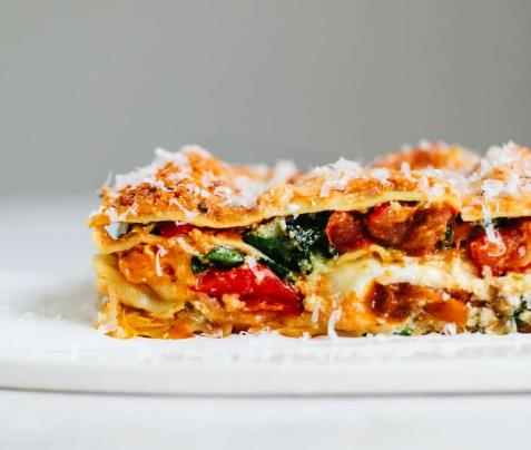 ROASTED VEGETABLE LASAGNA #lasagna #vegetarian #easy #recipes #roasted