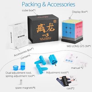 Spesifikasi dan Kelengkapan Rubik GTS3M Stickerless