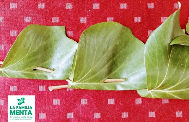 Actividad para niños: Corona de hojas