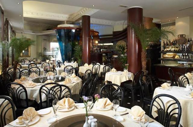 Interior of Maroush Gardens Restaurant