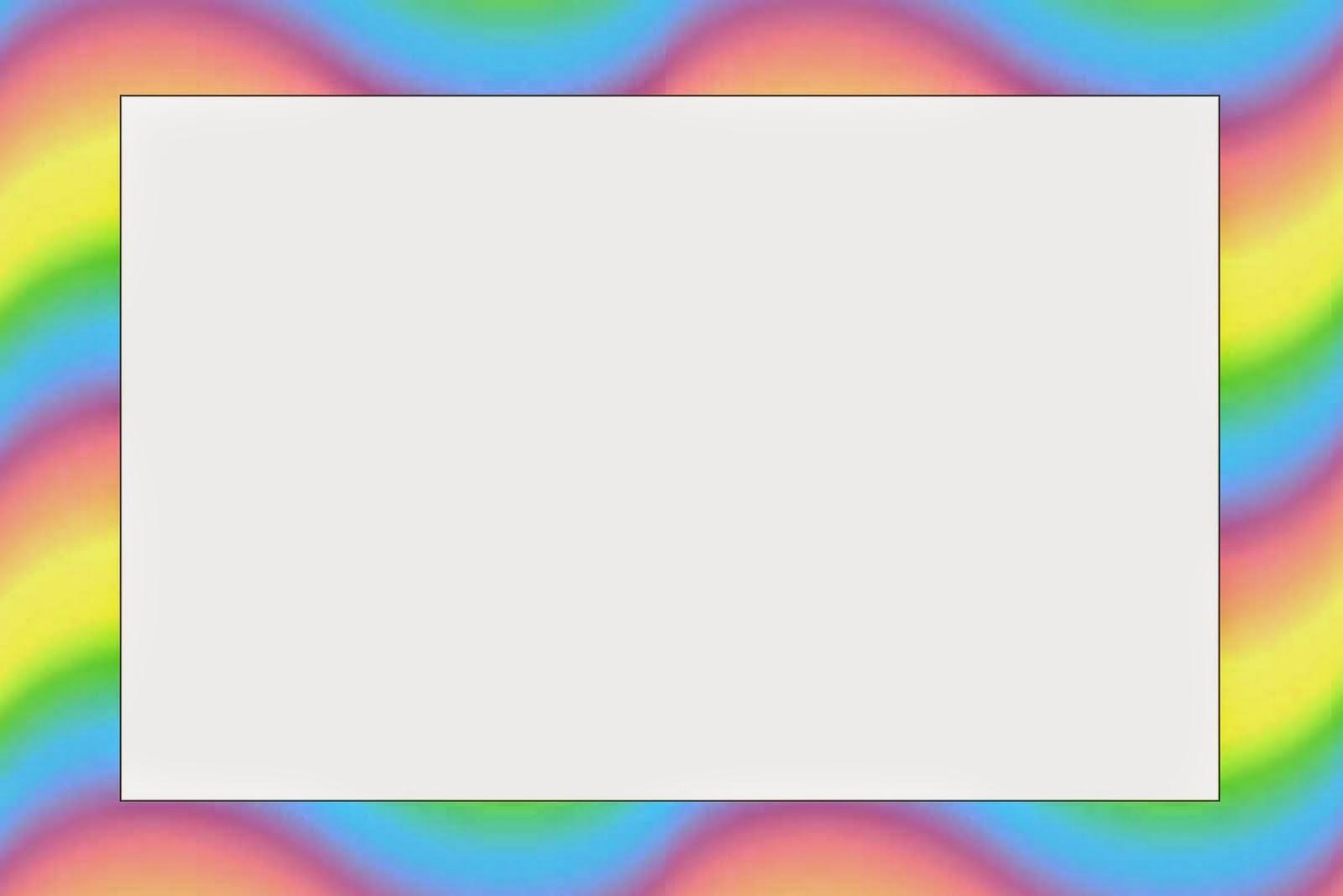Self Adhesive Pocoyo With Rainbow Background Free Printable Invitations