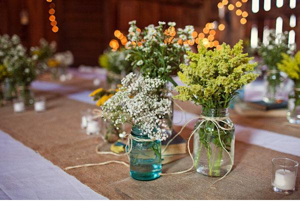 Easy Vintage Wedding Table Decoration
