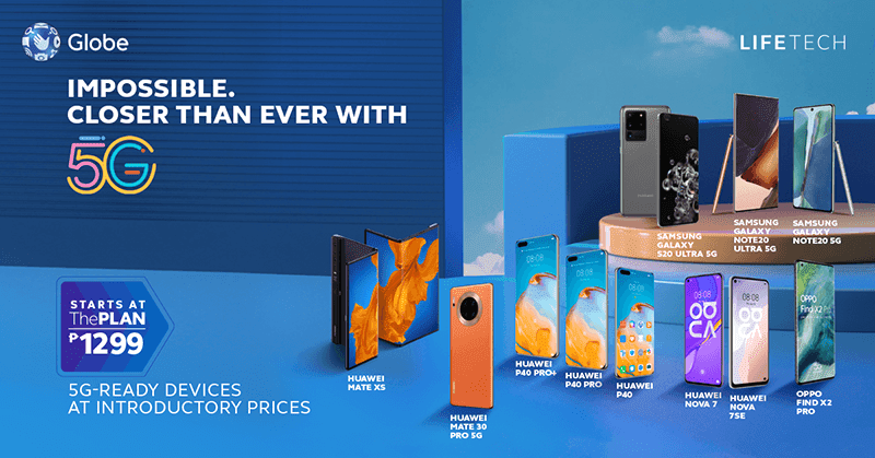 Globe makes 5G handsets more affordable, starts at PHP 1,299 per month