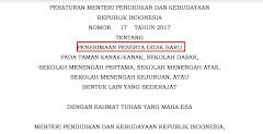 PPDB Juknis Baru Permendikbud No 17 Tahun 2017
