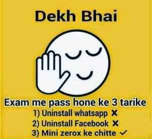 Whatsapp Status For Exam Tension