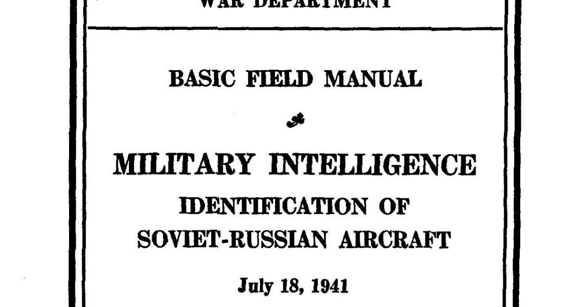 Free Military Manuals: Identification Of Soviet-Russian