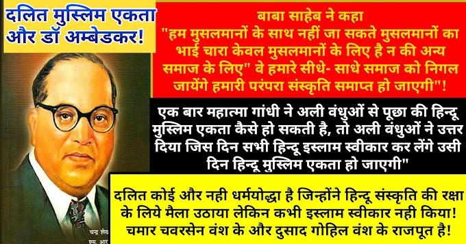 दलित -मुस्लिम एकता और डॉ अम्बेडकर