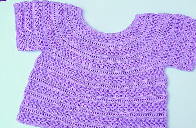 5 - Crochet Imagen Cuerpo de blusa y jarsey a crochet por Majovel Crochet