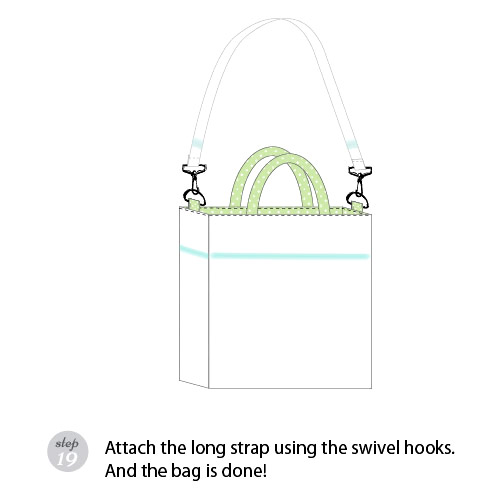 This tutorial shows you the basic steps to make this simple, reversible bag with a detachable strap.