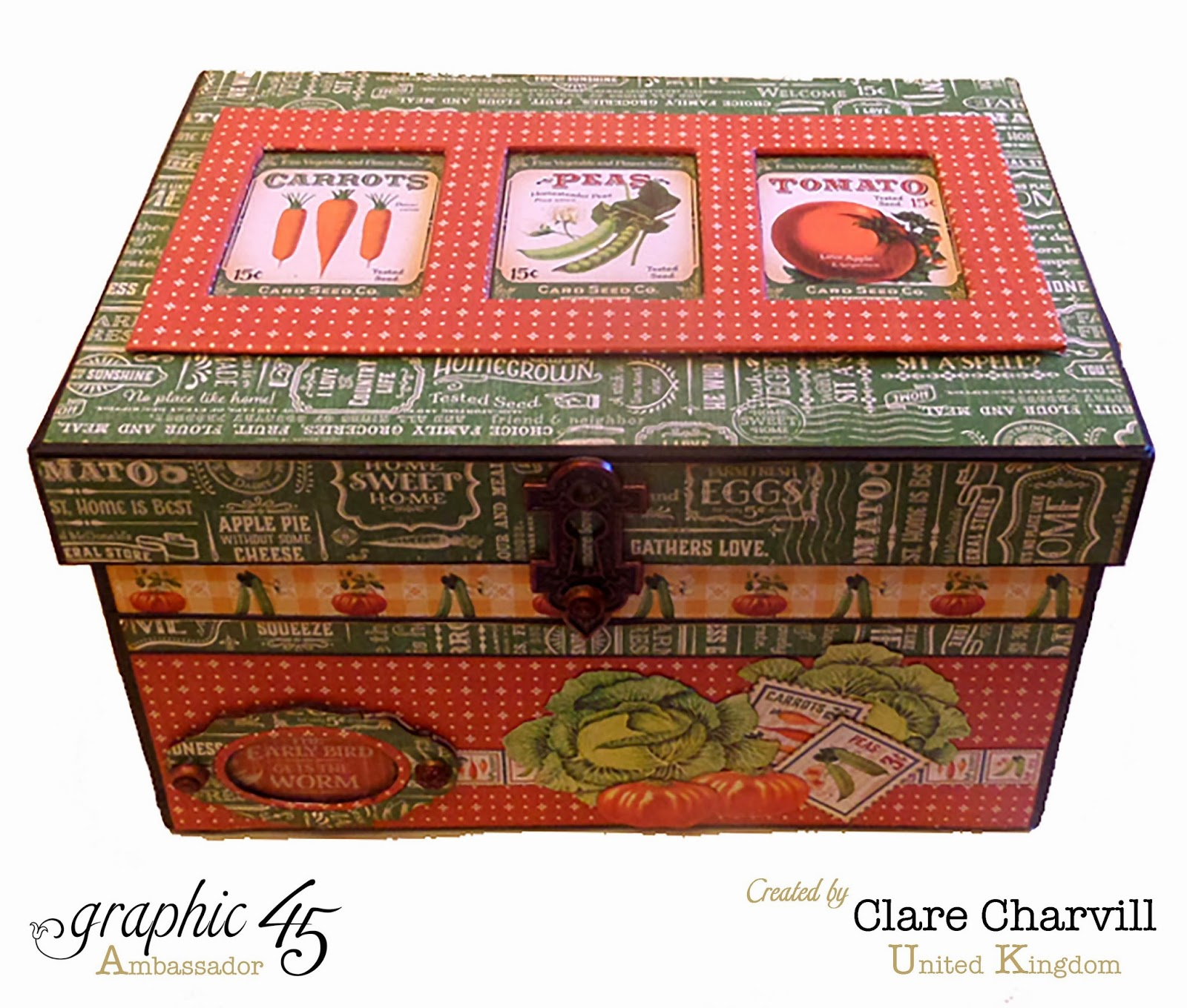 Home Sweet Home Garden Box Clare Charvill Graphic 45