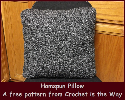 Crochet Is The Way Homespun Pillow