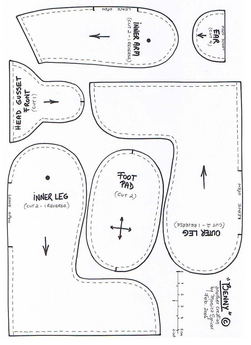 Teddy Bear Tutorial and Pattern ~ DIY Tutorial Ideas!