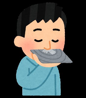 鼻息鏡で検査をする人のイラスト
