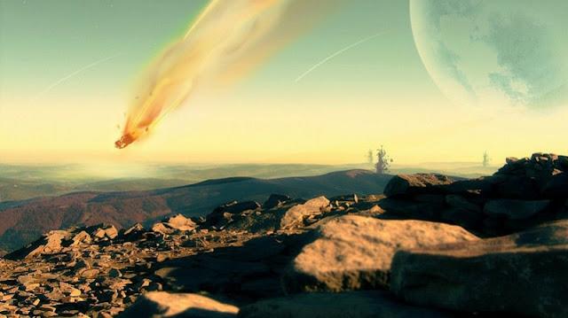 asteroid yang jatuh ke Bumi ini memusnahkan semua dinosaurus yang hidup di era prasejarah