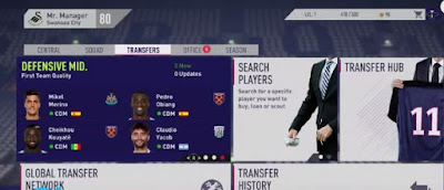 FIFA 18, Career Mode Transfer, Screen Image, Defensive Mid.